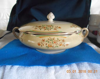 Covered Serving Bowl ~ Johnson Brother's ~ England