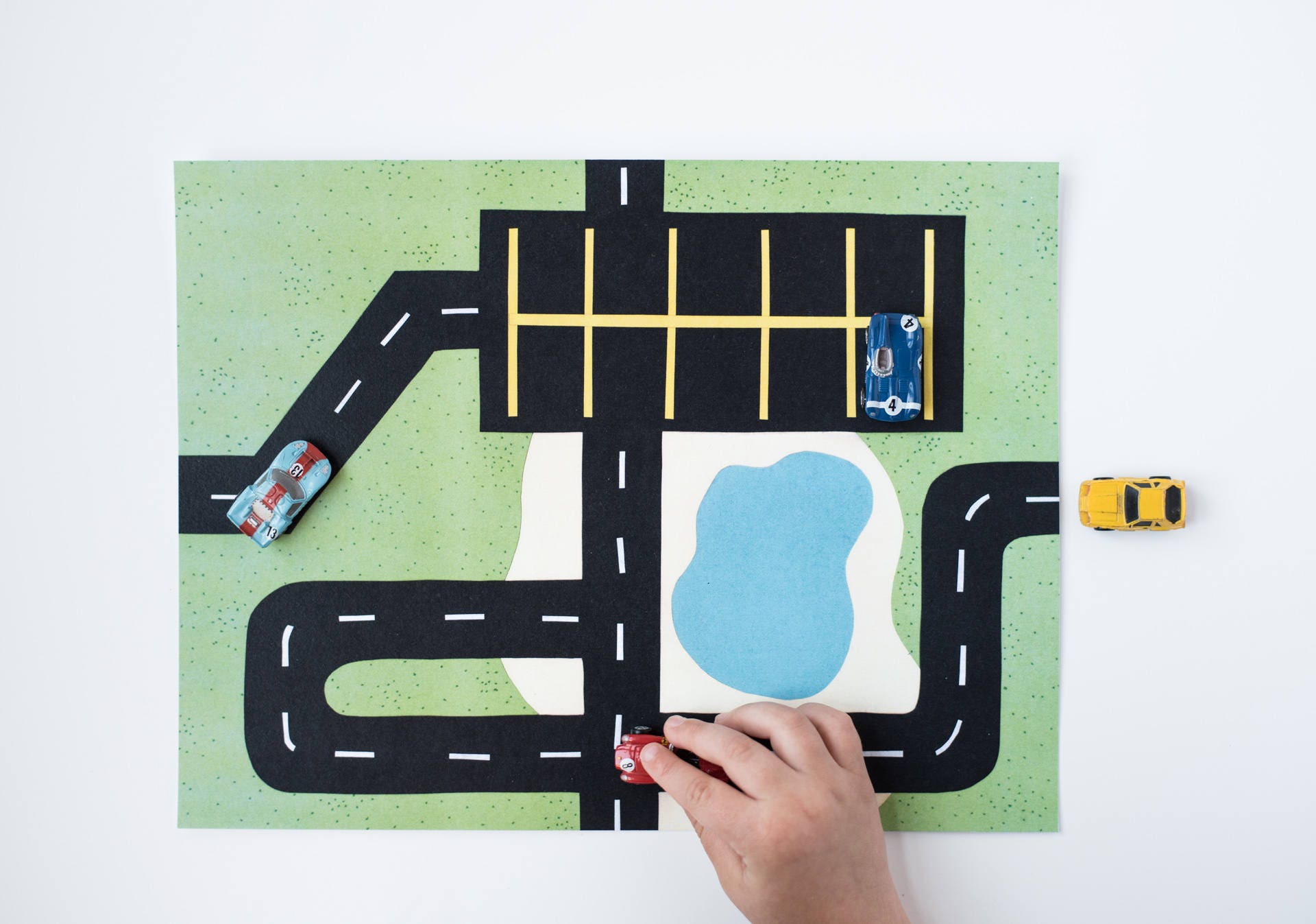 Car Printable Play Mat 3 Parking Lot Mat For Micro Machines
