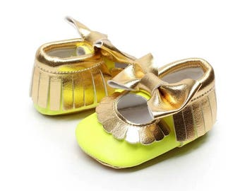 Metallic Mary Janes