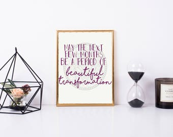 Printable Quote: Time of Beautiful Transformation