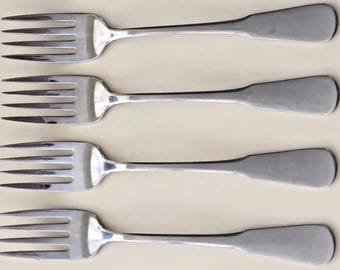 Oneida Minute Man Stainless Four Salad Forks