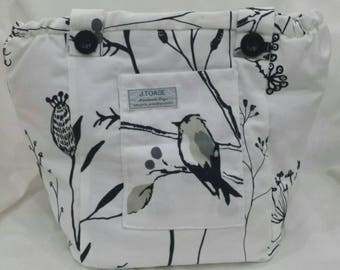 Gorgeous monochrome Vegan Shoulder Bag. Handmade.