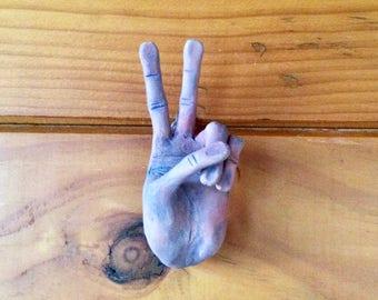 PEACE- Ceramic Hand