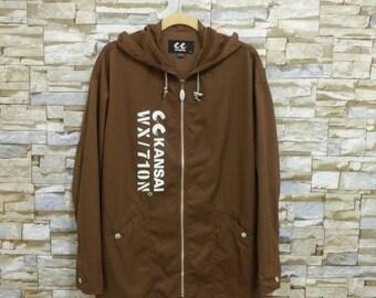Vintage KANSAI Yamamoto Jacket Cc Kansai Designer Fashion Japan Yohji Yamamoto Issey Miyake Junya Watanabe Comme des Garçons Size 3