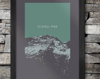 Scafell Pike  Poster Print - The Lake District