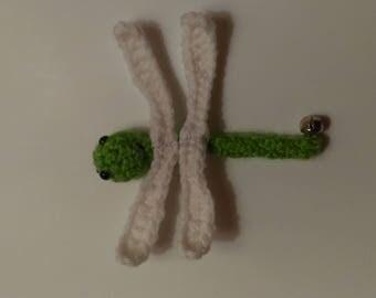 Dragonfly Cat Toy, Crocheted Dragonfly, Amigurumi, Crocheted Cat Toy, Kitten Toy, Bell Cat Toy, Handmade Cat Toy, Acrylic Yarn, Hand Sewn