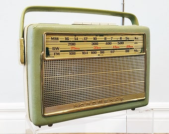 1963 Nordmende Transita Deluxe Portable Multi-Band Radio, Made in Western Germany