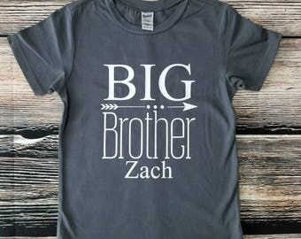 Big Brother Shirt, Birth Announcement, Sibling Shirt
