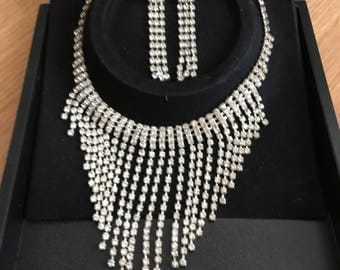 Vintage Bridal/Prom Necklace and Earring Set