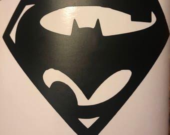 Batman vs Superman Car Decal