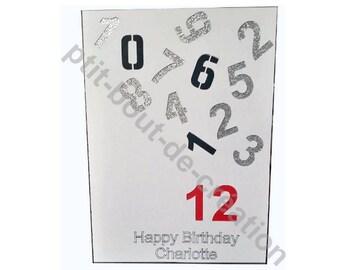 Happy birthday card numbers happy birthday