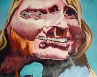 Portrait 2: Warped Reflection - ORIGINAL Oil Painting