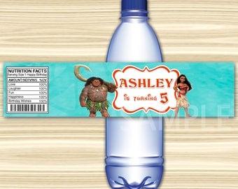 Moana Bottle Label. Moana Water Label. Vaiana Water Label. Vaiana Bottle Label. Diy Moana Birthday Party. DIGITAL FILE.