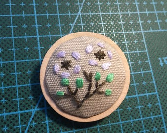 hand embroidery brooch, gift for her