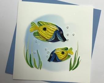 Fish Quilling Greeting Card