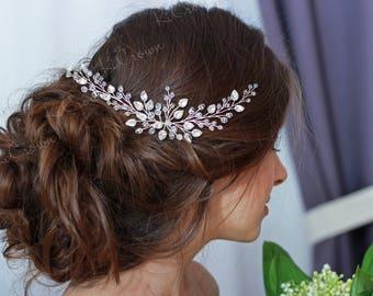 Bridal Hair Piece  Crystal Headpiece  Silver Hair Vine  Crystal Tiara  Wedding Hairpiece  Bridal Headband  Bridal Headpiece  Bridal Jewelry