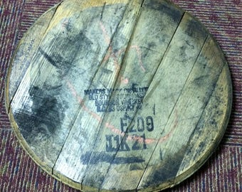 Used Bourbon Barrel Head   Great for your home bar or man cave.