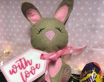 Easter bunny cream egg holder