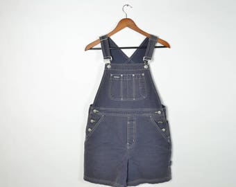 Vintage Gray Gap Overall Shorts