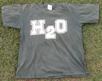 H2O Original Vintage 90's Green T-shirt Nyhc New York Hardcore Punk Madball Sick Of It All Agnostic Front Skarhead Vtg Rare