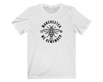 Manchester Bee 001 We Are Manchester Manchester Arena Streetwear Manchester Pride Tshirt 90S Hip Hop Clothing