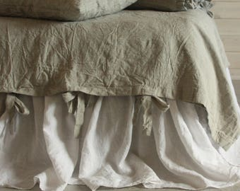 Linen Duvet Cover  Twin Single Full Double Queen King CalKing size Natural duvet cover with ties