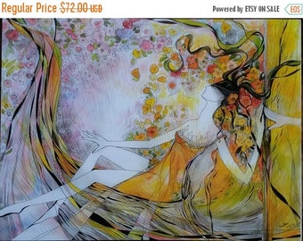 On Sale Live. Figurative abstraction, Original graphic arts, Print on Canvas. Modern Art