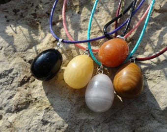 "necklace ""p"" little bird eggs """