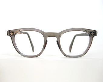 Gray Semi-Transparent Glasses Frames