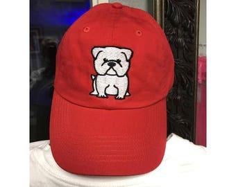 English Bulldog Baseball Hat