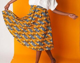 Skirt hight waist in Wax