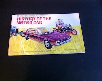 HISTORY Of The MOTOR CAR full set of 50 Brooke Bond  Tea Cards In Offical  Album 1950s