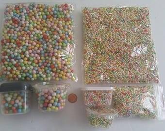 Rainbow foam beads for slime