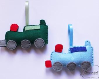Felt toys, Kids room decoration, Color ornament, Sun Train Fish or Plane, Kids Christmas gift Eco toys