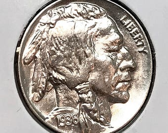 1936 P Buffalo Nickel - Gem BU / MS / UNC