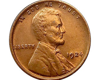 1924 Lincoln Wheat Cent - Choice BU / MS / Unc