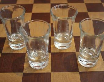 Set of vintage shot glasses (quantity 4)