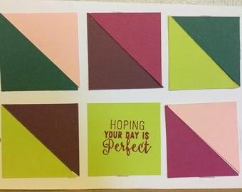 Half Square Triangle Quit Card