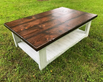 Country Coffee Table, Living Room Table, Farmhouse Table, Rustic Coffee Table, Accent Table