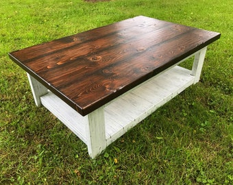 Country Coffee Table Rustic Coffee Table Coffee Table Living Room Table Farmhouse
