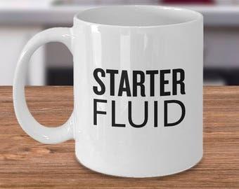 Mechanic Gifts - Starter Fluid - Mechanic Mug - Funny Mechanic Present - Mechanic Gifts - Birthday Gift for Mechanic