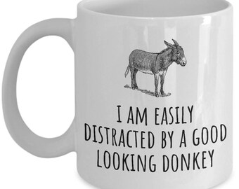 Donkey Lover Gift - Donkey Farm Present - Donkey Dairy Mug - Gift For Donkey Farmer - Good Looking Donkey
