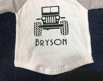 Jeep Toddler Shirt