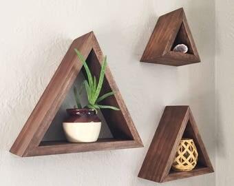 Set of 3 Triangle Shelves