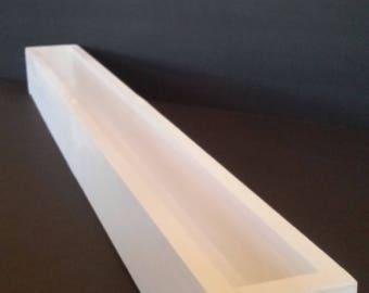 24 inch window sill planter- classic white