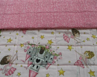 Fairy princess childs quilt, baby quilt, toddler quilt, crib quilt, handmade quilt, nursery