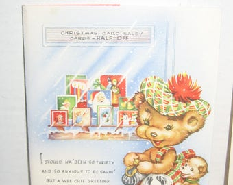Vintage Christmas Greeting card. Unused with envelope. Great to mail or collect. Made USA