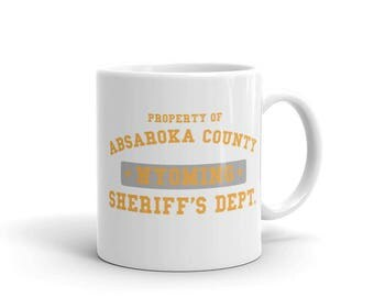 Longmire Absaroka County Sheriffs Department Mug made in the USA