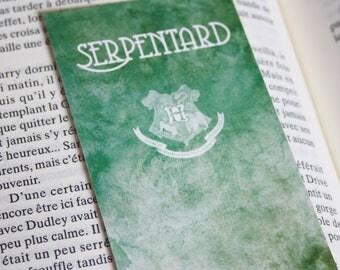 Bookmark Art drawing print, Harry potter Slytherin Hogwarts