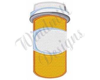 Pill Bottle - Machine Embroidery Design
